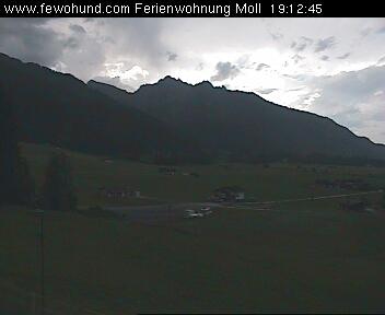 Livebild Ferienwohnung Moll Richtung Schollenwiesenlift Höfen in Tirol