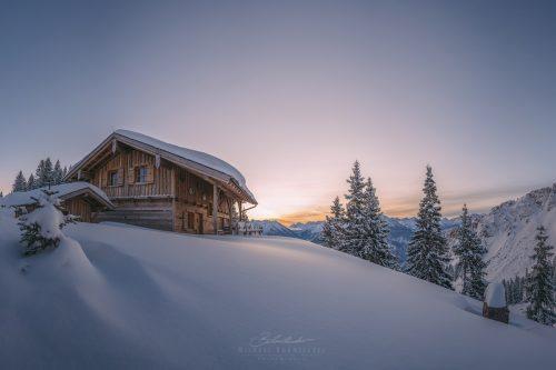 Landschaften Hütte Hahnenkamm
