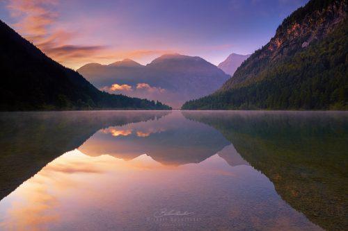 Landschaften Plansee Sonnenaufgang